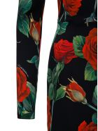 Dolce & Gabbana Roses Silk Dress - Black