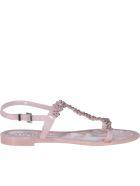 Menghi Flat Sandals - Powder