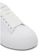 Alexander McQueen White Leather Skate Sneakers With Logo - White