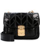 Miu Miu Quilted Leather Shoulder Bag - black