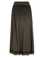 Gucci Tie-waist All-over Logo Skirt - Black