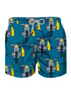 MC2 Saint Barth Motorbicycle Print Boy Swim Trunks