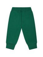 MSGM Green Suit For Babykids With Velvet Logo - Green