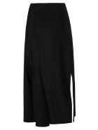 Marine Serre Side Slit Patterned Skirt - Black