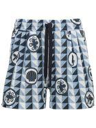 Dolce & Gabbana Majolica Print Cotton Bermuda Shorts - Multicolor