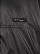 Y/Project Clip-shoulder Bomber Jacket - BLACK BLUE