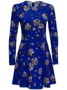 RED Valentino Cady Blue Dress With Floral Print - Blu