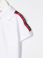 Givenchy Newborn White Polo Shirt With Givenchy Ribbons - Bianco