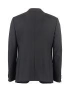 Z Zegna Three-piece Wool Suit - black