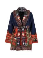 Alanui Wool And Cashmere Blend Cardigan - blue