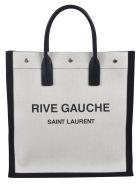 Saint Laurent Rive Gauche Shopper Bag - White/Black