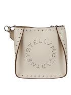 Stella McCartney Mini Crossbody Studded Shoulder Bag - Bianco
