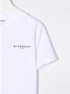Givenchy White Kids T-shirt With Micro Logo On The Chest - Bianco