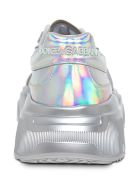 Dolce & Gabbana Daymaster Silver Colored Leather Sneakers - Metallic