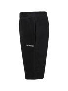 Balenciaga Black Shorts For Kids With White Logo - Black
