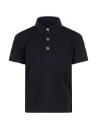 Armani Collezioni Blue Polo Shirt For Boy With Eagle - Blue