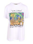 Alessandro Enriquez 'palermo Print' Cotton T-shirt - White