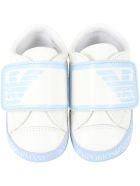 Armani Collezioni White Sneakers For Babyboy With Logo - White