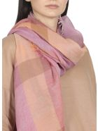Kangra Cotton And Linen Blend Scarf - RED FRUITS