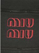 Miu Miu Garment-dyed Fleece Top - IRON GREY