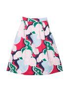 Simonetta Girl Patterned Skirt - Fantasia