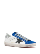 Golden Goose White And Blue Man Super-star Sneakers