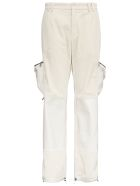 Dolce & Gabbana Ribbed Cotton Worker Trousers With Pockets - White
