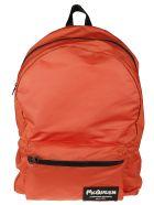Alexander McQueen Logo Patched Backpack - Arancio