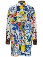 Dolce & Gabbana Oversize Cotton Poplin Shirt - Multicolor
