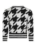 Simonetta Multicolor Sweater For Girl - Black
