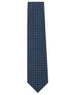 Eddy Monetti Printed Neck Tie - Blue/White