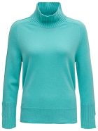 Antonelli Light Blue Wool Blend Sweater - Light blue