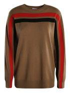 Burberry Stripe Detail Sweater - Brown/Black