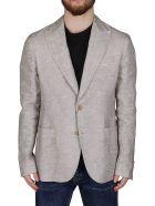 Giorgio Armani Grey Linen Blazer - Grey