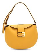 Fendi 'croissant Small' Leather Shoulder Bag - Yellow