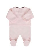 Fendi Pink Set With Double Ff For Baby Girl - Pink