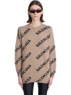 Balenciaga Knitwear In Beige Wool - beige