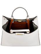 Fendi Peekaboo X-tote Leather Bag - Ghiaccio