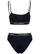 Dolce & Gabbana Black Bikini With Logoed Elastic Band - Black