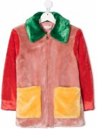 Stella McCartney Kids Multicolor Ecological Fur Coat - Multicolor