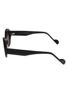 Anne & Valentin Simone Round Frame Sunglasses - Black