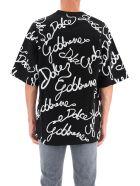 Dolce & Gabbana Oversize All-over Logo T-shirt