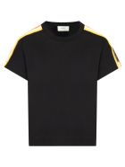 Fendi Black T-shirt For Girl With Colorful Stripes - Gme Black