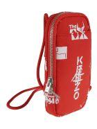 Kenzo Printed Phone Shoulder Bag - Medium Red/White