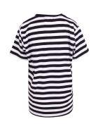 Alessandro Enriquez 'love-ster' Cotton T-shirt - Black Stripes