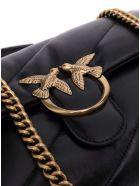 Pinko Love Crossbody Bag In Black Leather - Black