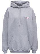 Balenciaga Grey Cotton Hoodie With Logo - Grey