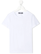 Balmain Unisex Kid White T-shirt With Embossed Logo