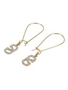 Valentino Garavani Pendant Earrings - Gold/Crystal Silver