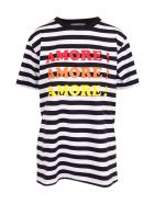 Alessandro Enriquez 'amore! Amore! Amore!' Cotton T-shirt - Black Stripes